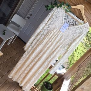 Zara Dresses - 🐑Zara cream colored lace dress🐑